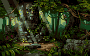 Legend Of The Hidden Temple by paintpixelprint