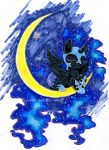 Among the stars by Lunar-White-Wolf
