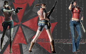 Claire Redfield background by MistressYukiTraigen
