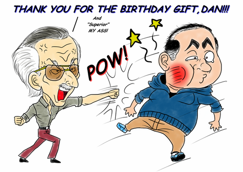 Stan Lee about the Birthday Gift by Frogwalker