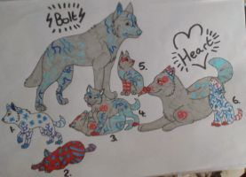 BoltXHeart Pups FORSALE 1 LEFT by skye-adopts