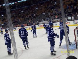 Leafs Warmup 45  by Musicislove12
