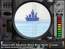 Papercraft Advance Wars Cruiser being torpedoed! by ninjatoespapercraft