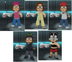 Meg Griffin's Multiverse Costumes by stumanbud