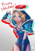 Frosty Holidays from Crystal Maiden by MilkCognac