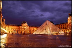 Louvre in Paris by Rovanite