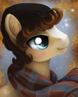 Commission: Icy Pints Winter Portrait by PaintedHoofprints