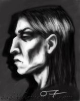 HP: SS: Snape Portrait by cogdis