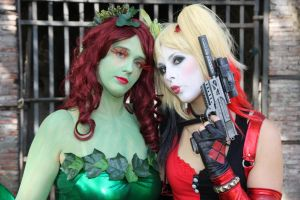 Poison Ivy and Harley Quinn by Elena-Luna