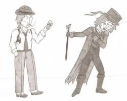 Showman and Maurice Escargot by Kahlan-Lilith