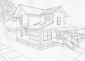 2-point perspective house by moriarty1776