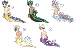 [3/5 OPEN]Nudibranch Adoptables Batch 1 by DollyMorbid