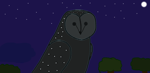 Greater Sooty Owl by guadisaves02