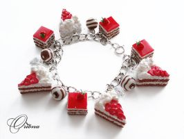 "Bracelet ""Strawberry Cake"" by OrionaJewelry"