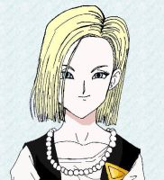 Android 18 by sapphire-pyro