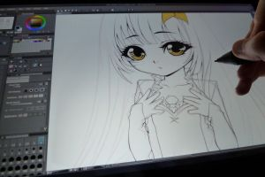 nightly drawing on cintiq by Lukiya