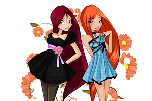 OR: Long haired girls by florainbloom