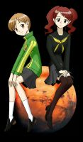 Chie and Rise by ArthurT2015