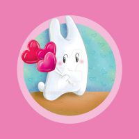 Bunny and heart lollipops by jkBunny