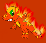 Pyrorex Artwork. by StormTheSplicechu