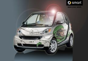Girl on Smartcar by Shipman by G-Ship