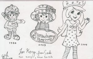 Strawberry Shortcake Through the Ages by JakeNickleby