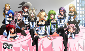 COMMISSION : TheSolWing Harems Maid Ver. by jadenkaiba