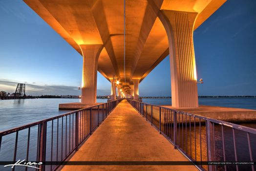 Roosevelt-Bridge-Stuart-Florida-at-Fishing-Pier by CaptainKimo