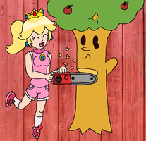 Request: Chainsaw Peach by IceKirby64