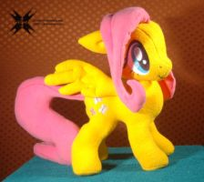 Fluttershy with movable head, ears and wings 3 by Oblitor
