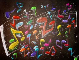 Prismacolor Music Notes by Orbcreation