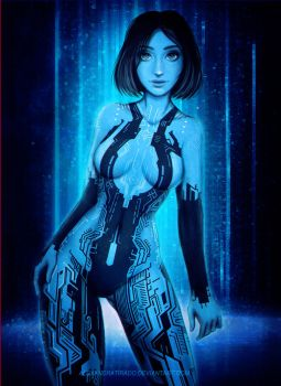 Cortana - Halo by AlexandraTirado