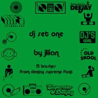 Photoshop Brush Set - DJ by jillian79