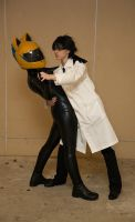 Cosplay: Shinra and Celty by burloire