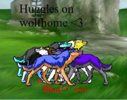 Huggles from Wolfhome by AquaArtist532