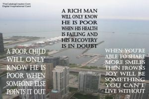 Poor-Rich-You-Digital Inspirational Card by thecatalogcreator