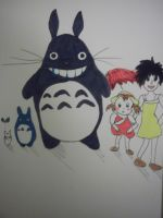 My Neighbour Totoro Charachters (first attempt) by FoolsGolde