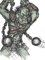 Orc swingin' ez mace's. by Gears24