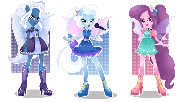 [AU] The Dazzlings - art by LimeDazzle