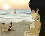 Avatar Gang at Sunset by halfempty15