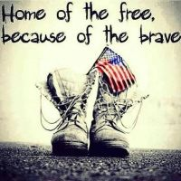 Home of the FREE Because of the BRAVE by DesertStormVet