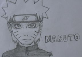 Naruto Sage Mode Sketch by TheROOkieDrawer