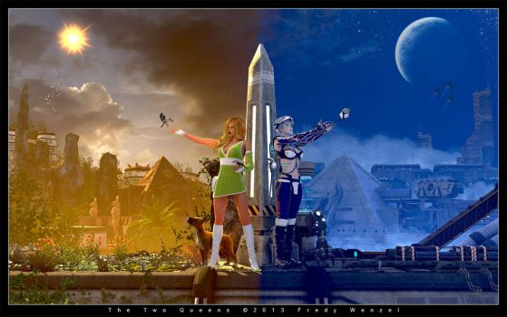 The Two Queens by Fredy3D