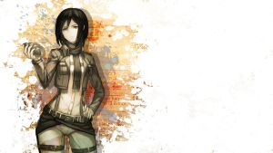 Mikasa from Attack on Titan (Shingeki no Kyojin) by gameriuxlt