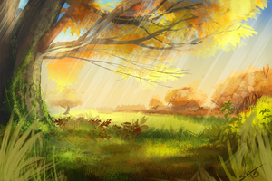 Autumn [30min speedpaint] by BlindCoyote