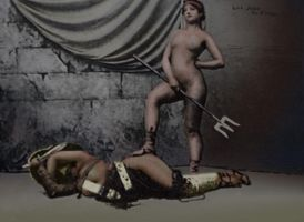 Gladiatrix Postcard 5 of 5 COL by julianapostata