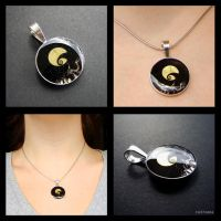 NBC resin and silver pendant by caithness155