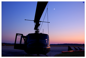 Helicopter Sunset by MauserGirl