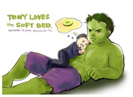 Tony loves the soft bed by amoykid
