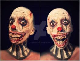 Evil Clown makeup FX by CamilaCostaArt